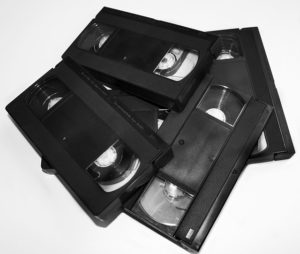 video tapes ready for conversion to mp4
